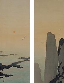 蓬莱山(双幅)