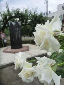 リンゴ並木の詩碑