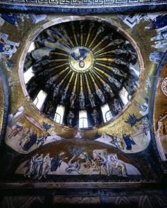 s-イスタンブール・カーリエ博物館 サイドチャペルのモザイク《キリストと十二使徒》6C