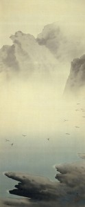 s-2807~一望千里:春草「湖辺飛雁」