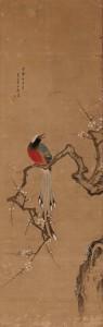s-白梅小禽図