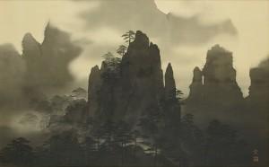 s-44平川敏夫「松巒湧雲」-1