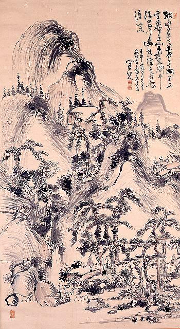 s-原蓬山「瀑布図」s