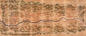 信州伊奈郡之図(正保の国絵図) 飯田市指定有形文化財